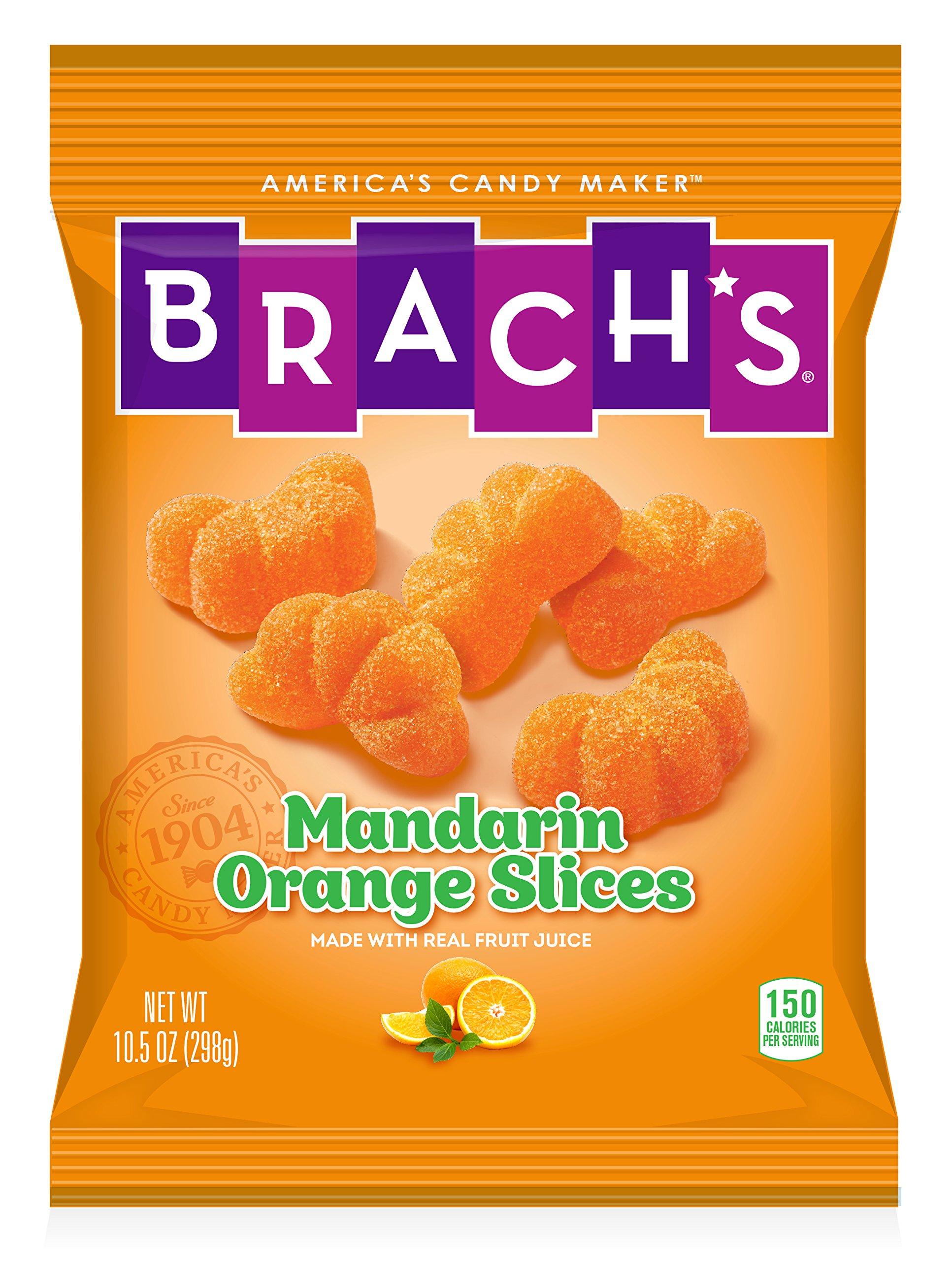 Brach's Mandarin Orange Slices Candy, 10.5 Ounce Peg Bag (Pack of 12)