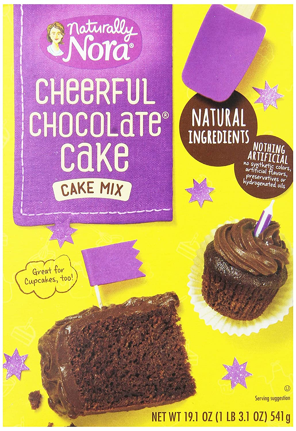 Naturally Nora Cheerful Chocolate Cake Mix 191 Ounce Kue Brownis By Nature Cakes Bali Boxes Pack Of 6 Vegan Grocery Gourmet Food