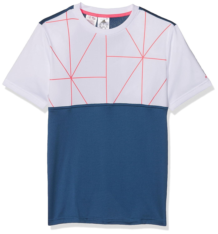 adidas B Club Tee - Camiseta para niño, multicolor, talla 116 AX9642