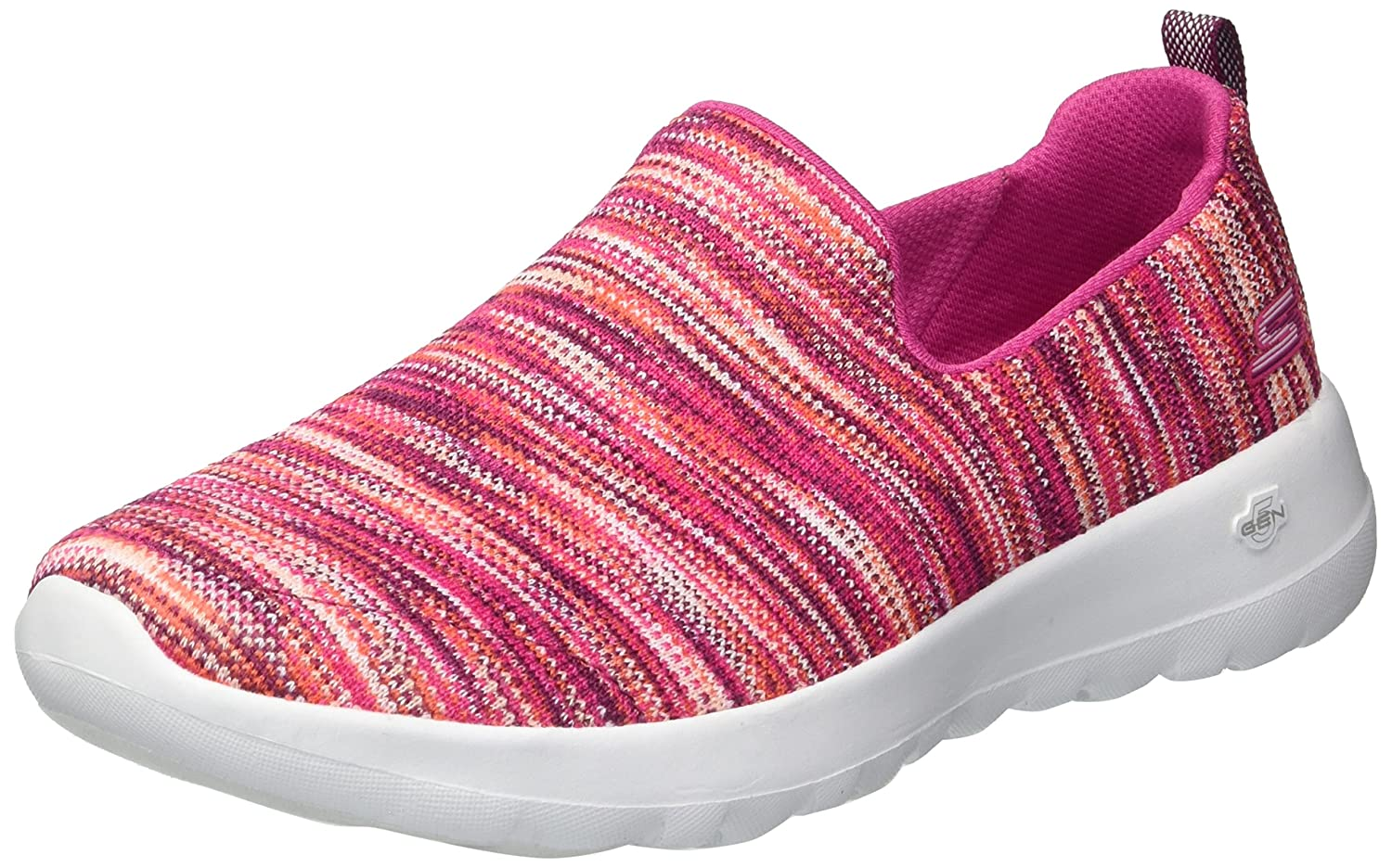Skechers Women's Go Walk Joy-15615 Wide Sneaker B07537BSWY 9 W US|Pink/Multi
