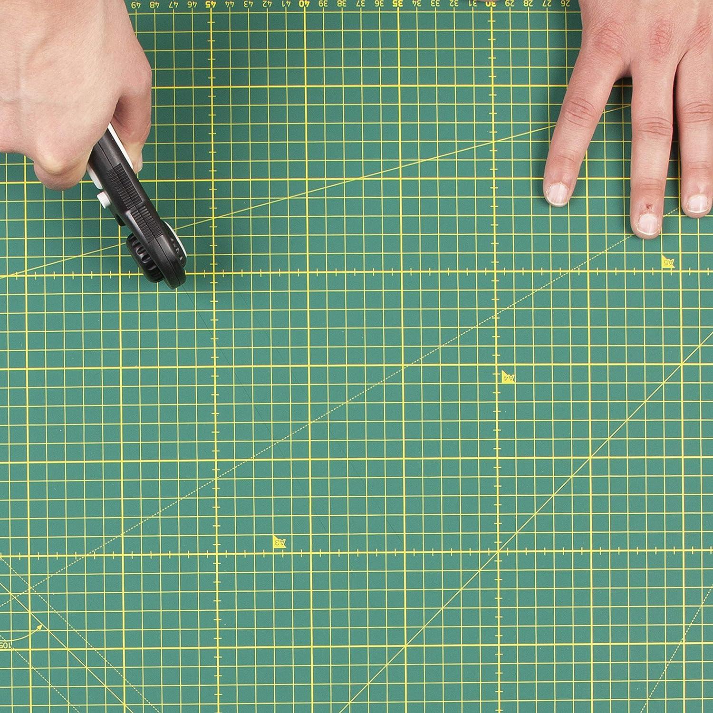 usw. Handwerk Patchworken Metrische Schneidunterlage zum Quilten Scrapbooken 3mm Schneidematte mit Doppelseitige Raster Elan 5-lagige Schneidematte Selbstheilend Schwarz Braun A1 N/ähen