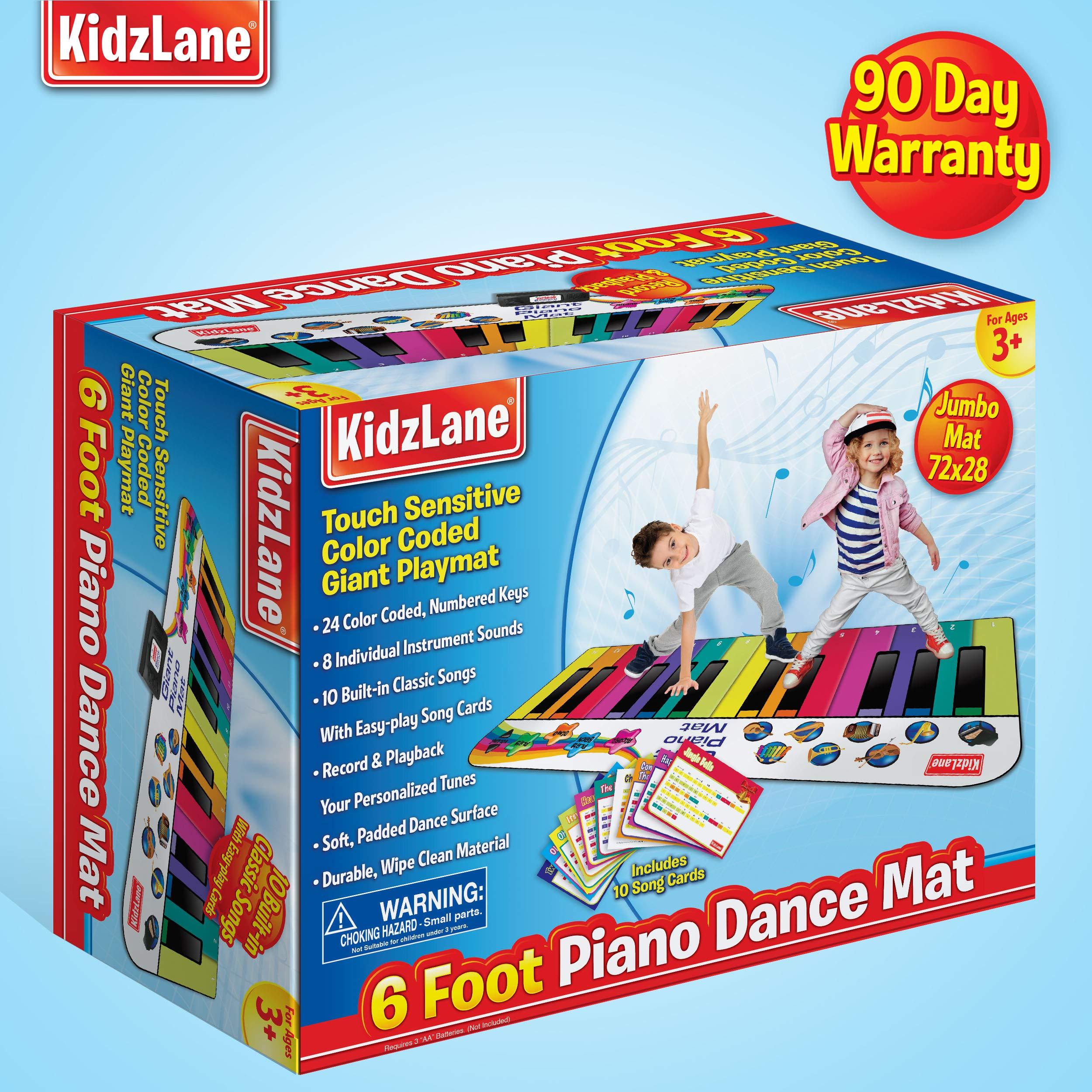 Kidzlane Floor Piano Mat: Jumbo 6 Foot Musical Keyboard Playmat for Toddlers and Kids by Kidzlane (Image #6)