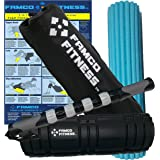 The Foam Roller for Back with Muscle Roller Stick Set by Famco Fitness   Deluxe 18 Inch 3 in 1 Foam Fitness Roller Set - Contoured Latex Free Massage Rollers + Carry Case   Muscle Therapy Ebook