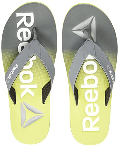 d994c22fa Reebok Men s Embossed Flip Dust Green Metsilver Wht House Slippers - 11 UK