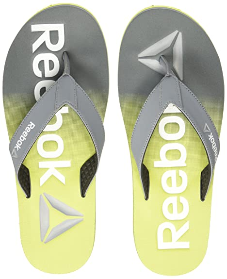 cd3df1613e2 Reebok Men s Embossed Flip Dust Green Metsilver Wht House Slippers - 11 UK