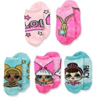 LOL Surprise! Girls' Big 5 Pack No Show, Fits Sock Size