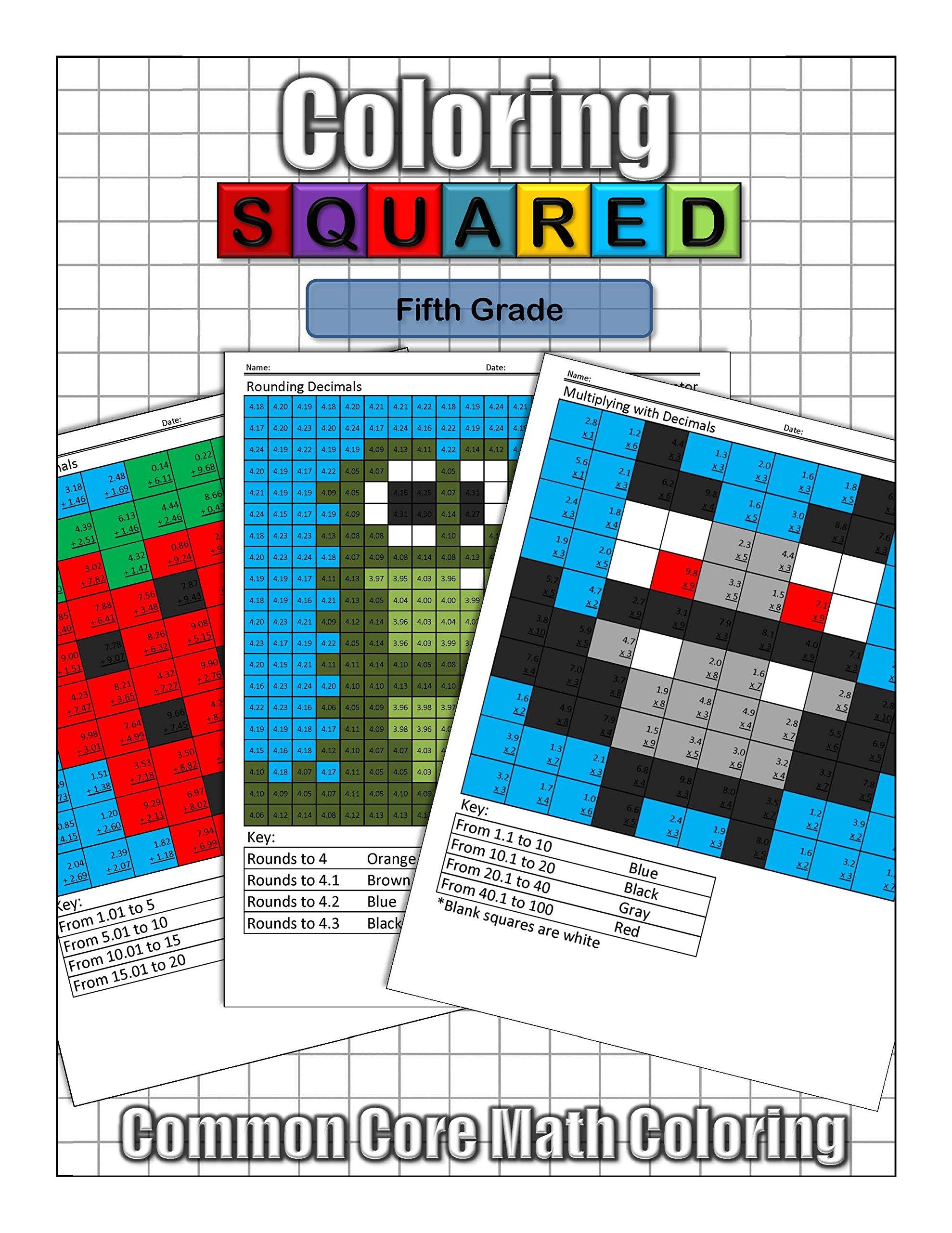 Coloring Squared: Fifth Grade: Cameron Krantzman: 9781939668141 ...