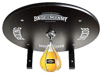 Premium Speedball Plattform Set inkl Drehkugellagerung schwarz und Leder Boxbirne medium gelb//Boxapparat f/ür die Wandmontage BCA-40