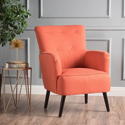 Christopher Knight Home Kolin Fabric Arm Chair, Dark Salmon