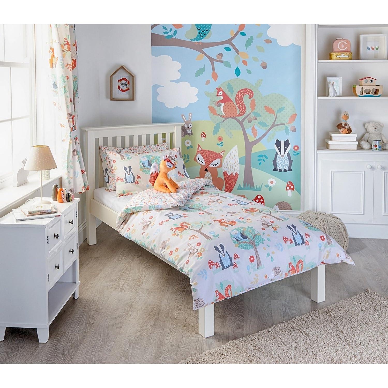 Kleinkind Bunt Riva Home Woodland Bettw/äsche Set 120 x 150cm