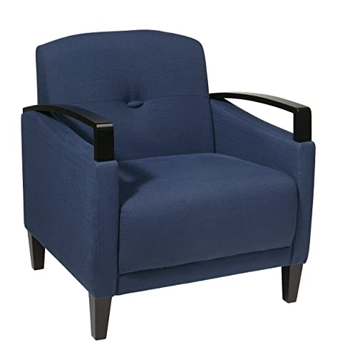 Ave Six Main Street Woven Arm Chair, Indigo Espresso