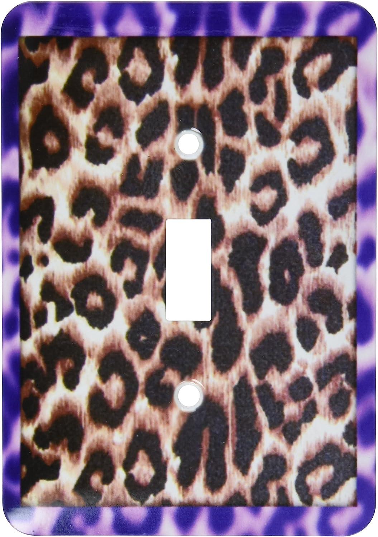 3dRose lsp/_32507/_1 Leopard Print Purple Toggle Switch Multicolor