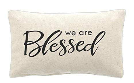 Amazon.com: Cojín de algodón «We are Blessed»: Home & Kitchen