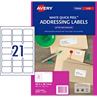 Avery Address Labels with Quick Peel™ for Laser Printers, 63.5 x 38.1 mm, 420 Labels (952000 / L7160)
