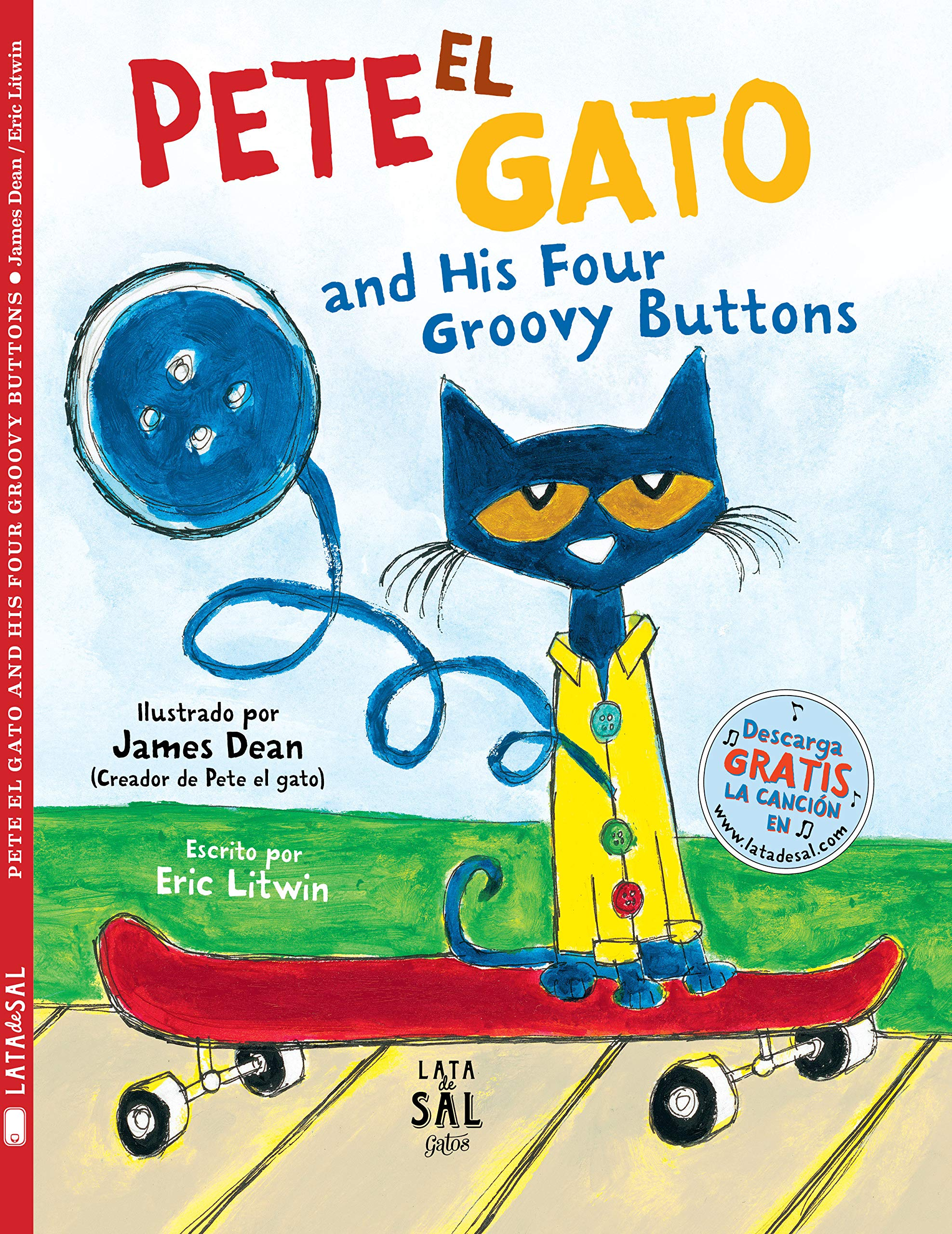 Amazon.com: Pete el gato and his four groovy buttons (Colección ...