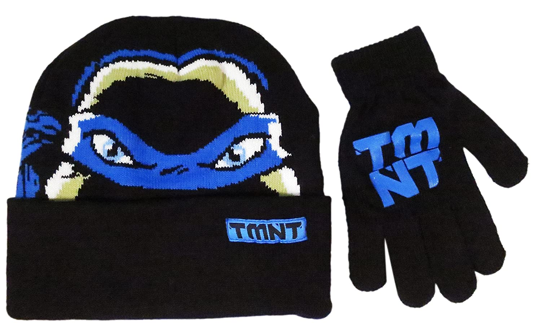 Teenage Mutant Ninja TMNT Turtles Boys' Beanie Winter Hat and Glove Set - Size 4-14 [4014] BioWorld