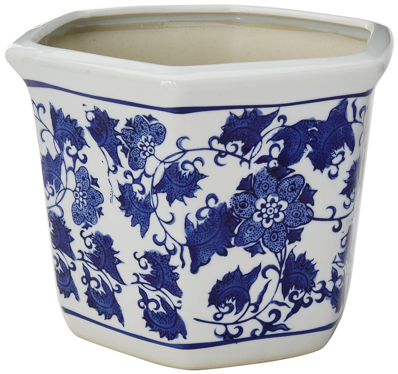 Amazon Oriental Furniture 10 Floral Blue White Porcelain