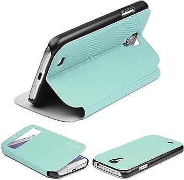 Urcover Funda Galaxy S4 Mini, Carcasa Libro S-View, Cierre magnetico, Funcion Soporte, Anti-arañazos, Billetera Flip Cover Protector Samsung Galaxy S4 Mini: Amazon.es: Electrónica