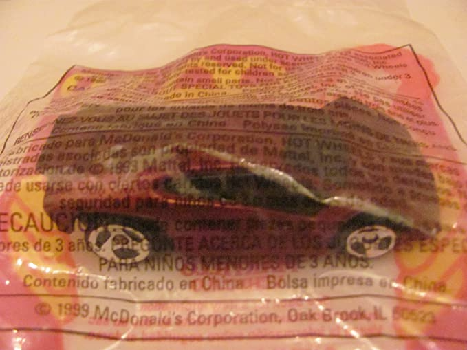 Amazon.com: Mattel HOT WHEELS - McDONALDS Happy Meal TOY CAR - MAXIMIZER - Bag #10 - 1999 / China (Comes in Original UNOPENED Bag) / *For Children Age 3 ...