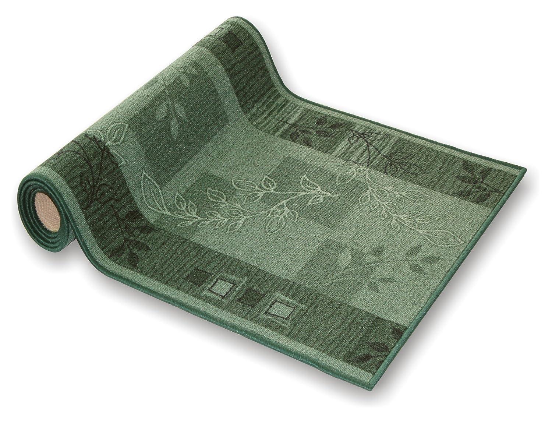 Der Meisterei Teppichläufer Flur Läufer Brücke Teppich Agadir Akzent grün Meterware rutschfest 100 cm breit 100 x 460 cm SALE in 44 Größen B009IP9N24 Lufer
