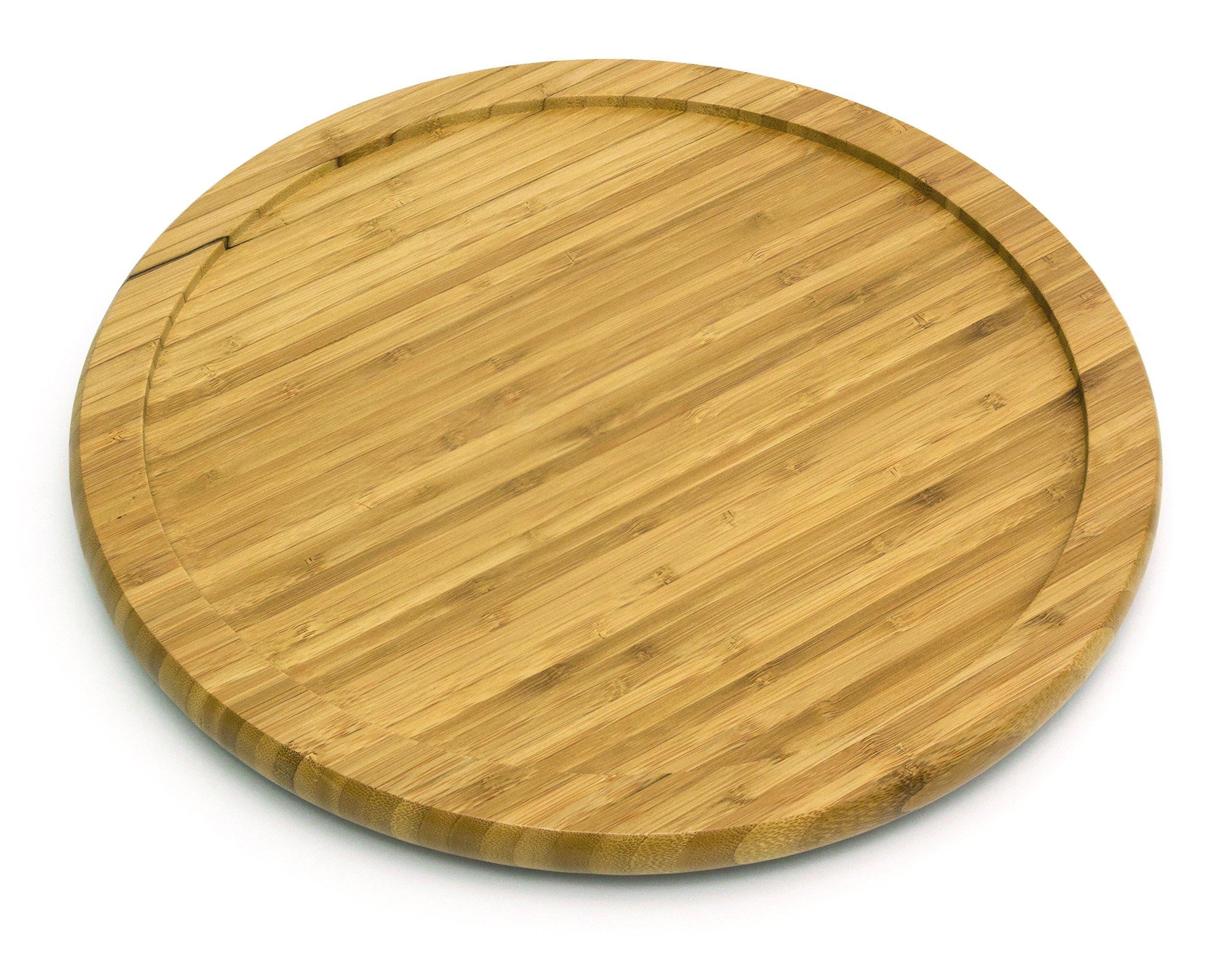 Lipper International 8304 Bamboo Wood 14'' Kitchen Turntable