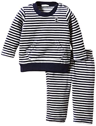 84fdcce4fd02 United Colors of Benetton Baby-Boys Stipe Velour Striped Tracksuit ...