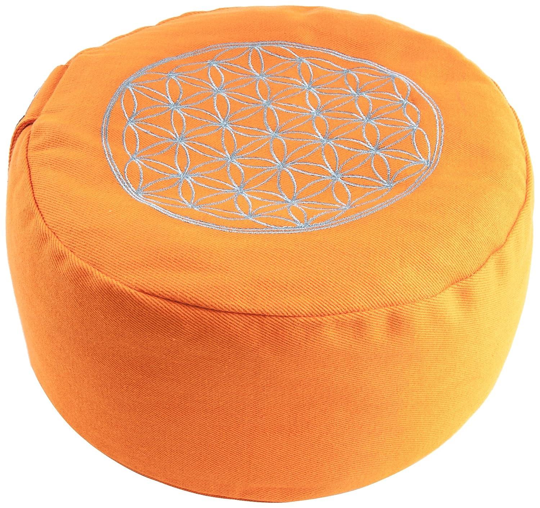 Berk YO-21-OR - Accessori da meditazione - Cuscino Fiore della vita, colore: Arancione