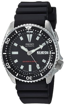 Buy Seiko Men s SKX173 Automatic Dive Urethane Strap Watch 700ab40d28f6