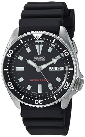 f80c67827ee Image Unavailable. Image not available for. Colour  Seiko Men s SKX173  Stainless Steel and Black Polyurethane Automatic Dive Watch