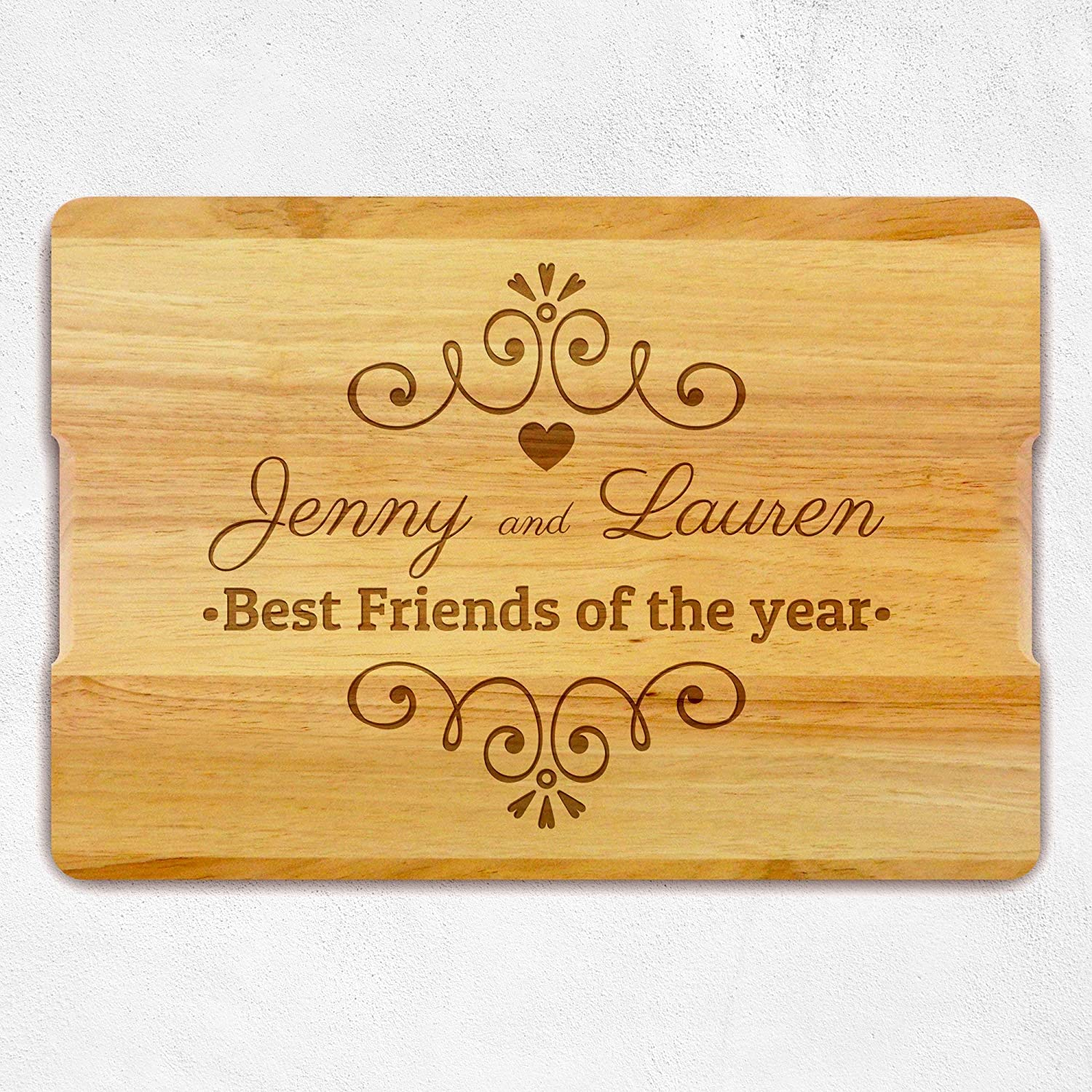 Best Friend Gift Custom Chopping Board Anniversary gift Personalized Gift Gift for Friends Christmas Gift Wooden Cutting Board