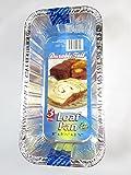 9 Disposable Aluminum Medium Size Loaf pans