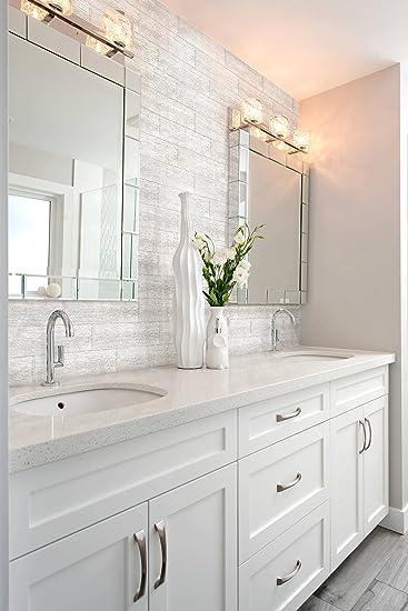 Mosaik Fliesen 10 X 30 Cm Glasfliese Silber Spiegel Kuche Badezimmer