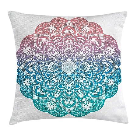 ZMYGH Yoga Throw Pillow Cushion Cover, Boho Gypsy Mandala in ...