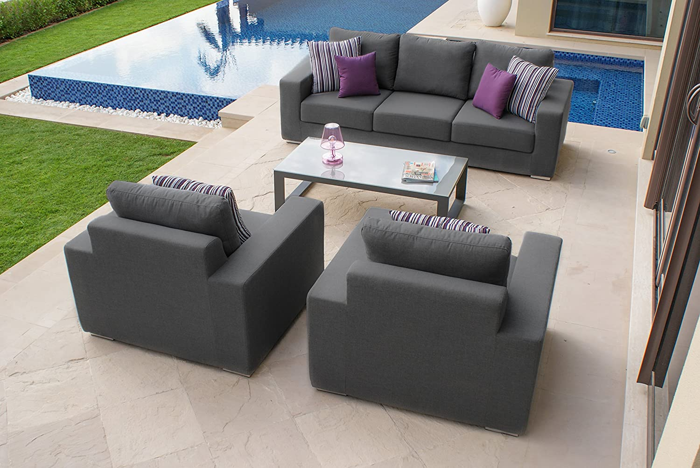 Serena sunbrella fabric garden furniture 3 seater sofa set amazon co uk kitchen home