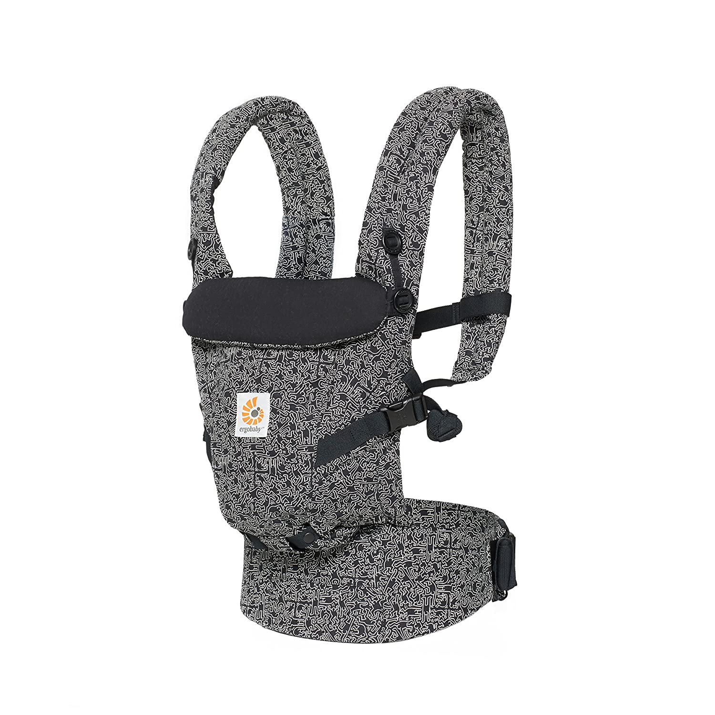 Ergobaby Adapt Award Winning Ergonomic Multi-Position Baby Carrier, Newborn zu Toddler, Special Edition Keith Haring , Black