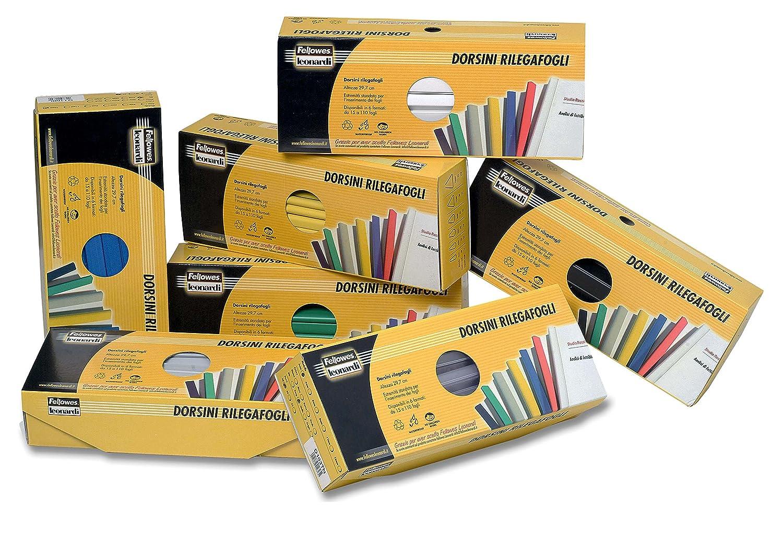 Fellowes D104BI Dorsini Rilegafogli Confezione da 50 Pezzi Diametro 4 mm Bianco