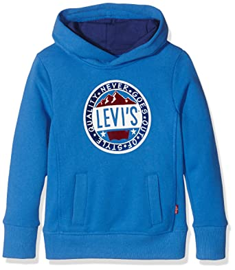 aea8d8f38fac Levi s Kids Jungen Kapuzenpullover Sweat ARVEY, Blau (Strong Blue 45), 128 (