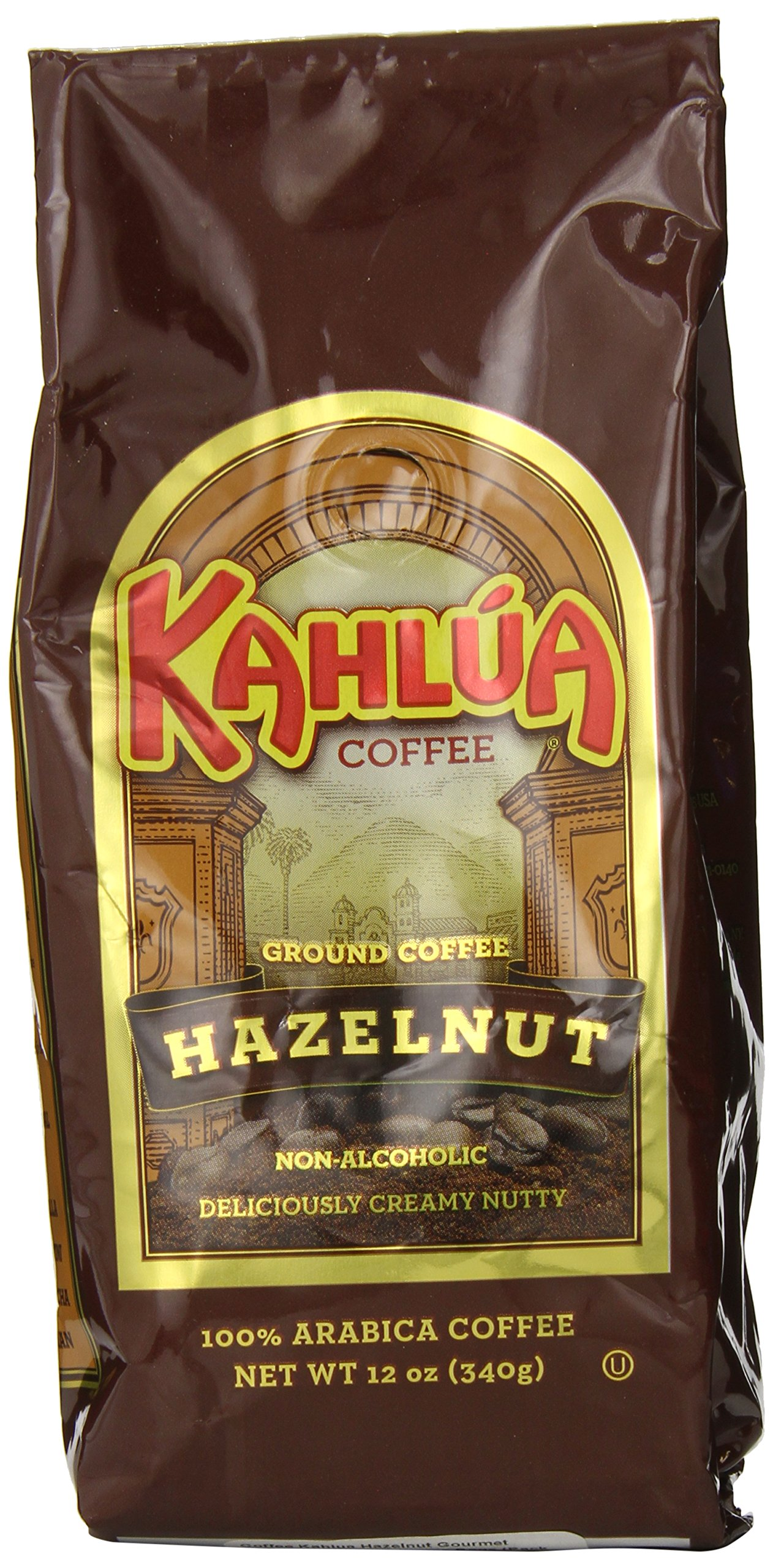Coffee Kahlua Hazelnut Gourmet Ground Coffee, 12-Ounce Bags (Pack of 2)