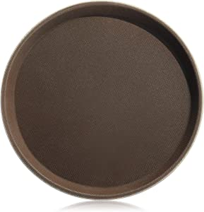 New Star Foodservice 24944 Restaurant Grade Non-Slip Tray, Plastic, Rubber Lined, Round, 11