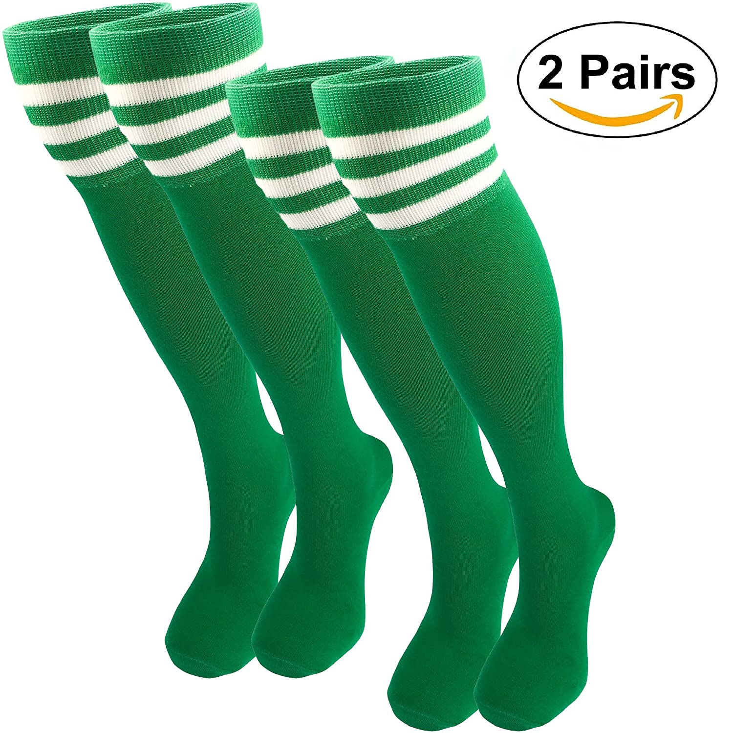 ✔️MO-KO-KO -Women's Sport Striped Dresses Over the Knee High Socks T-0000-B-CA