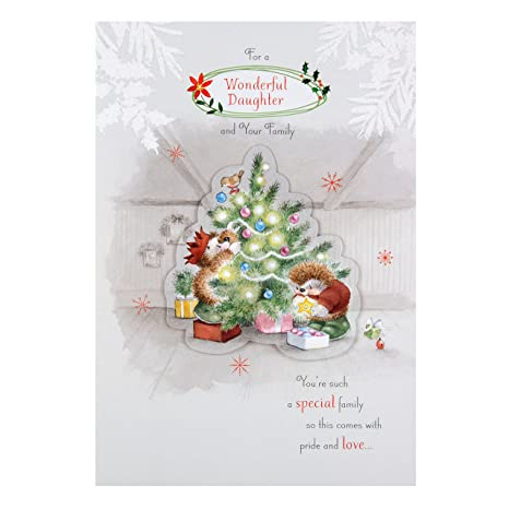 Auguri Di Natale Famiglia.Hallmark Biglietto Di Auguri Di Natale Per Figlia E Famiglia Pride