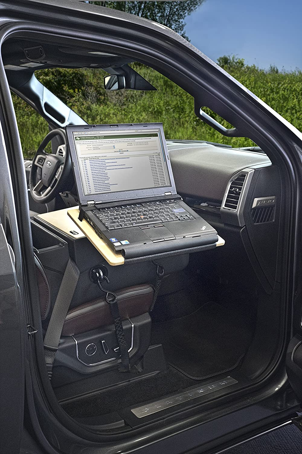 AutoExec AUE15071 Reach Front Seat Car Desk Urban Camouflage with Built-in Power Inverter