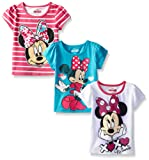 Amazon Price History for:Disney Girls' 3 Pack Minnie Mouse T-Shirts