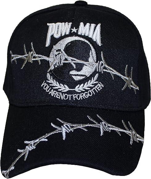 You Are Not Forgotten Black Baseball Cap 5449 POW-MIA Hat