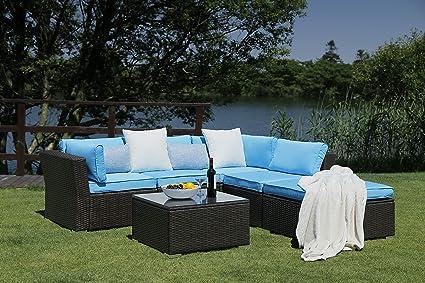 Amazon.com: N&V Patio Furniture Set (6 Pieces) Modern ...