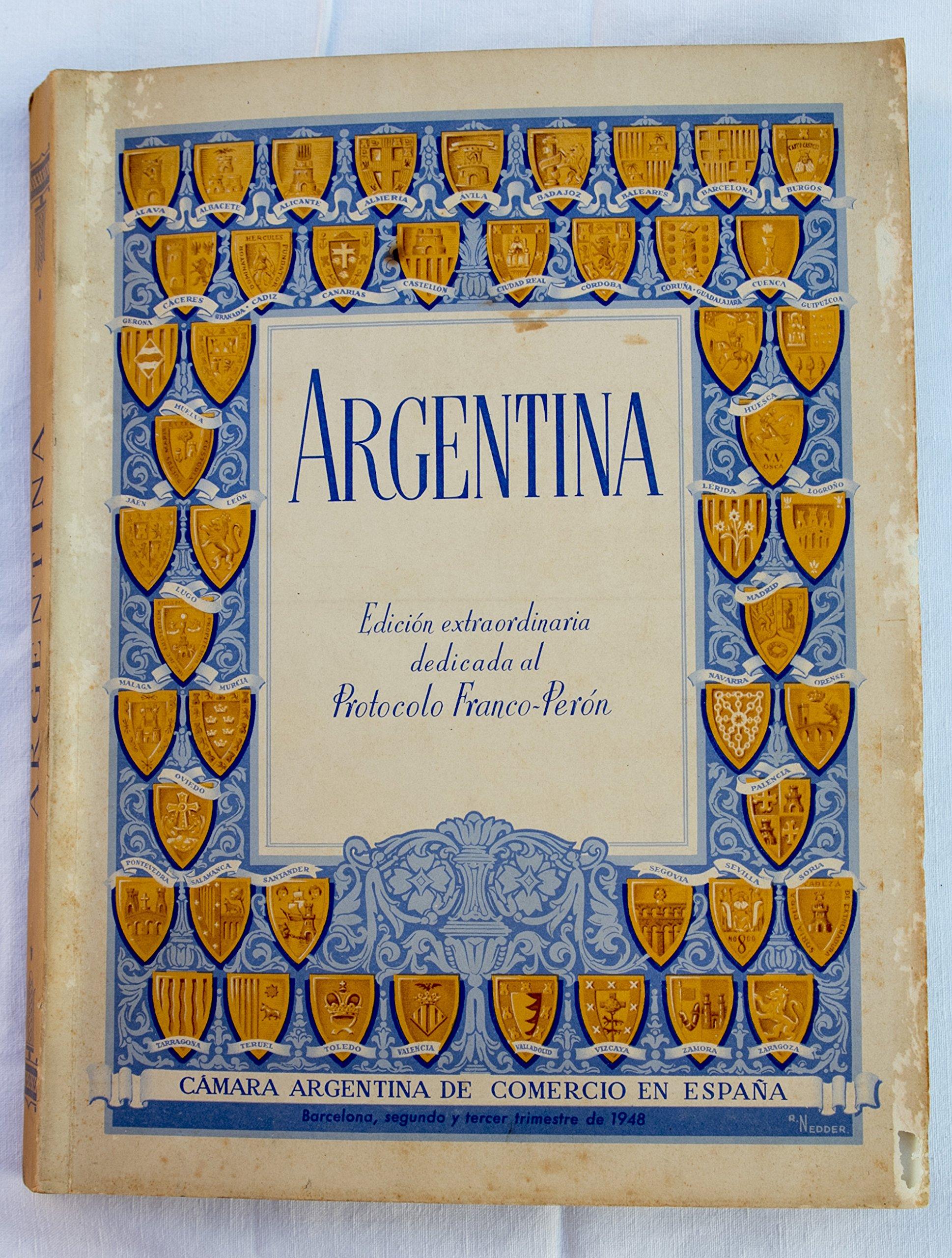 ARGENTINA, nº 5. Número extraordinario dedicado al Protocolo Franco-Perón: Amazon.es: VV. AA.: Libros