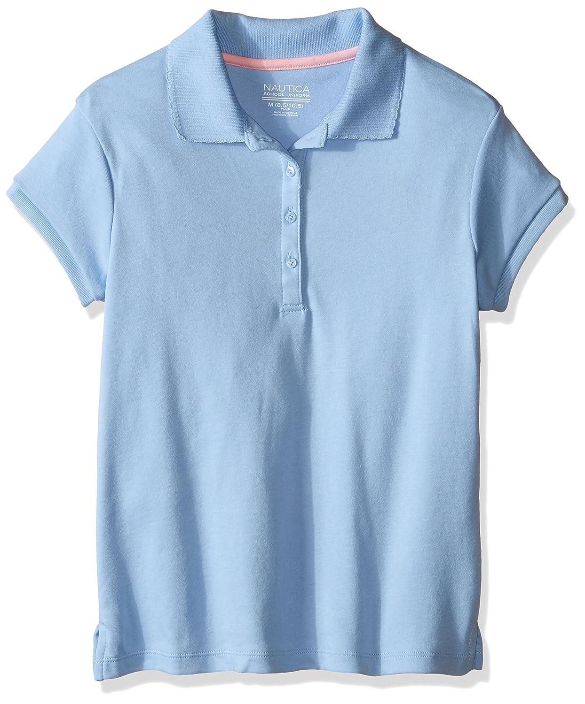 15068fc8 Nautica Girls Uniform Short Sleeve Polo with Picot Stitch Collar School Uniform  Polo Shirt: Amazon.ca: Clothing & Accessories
