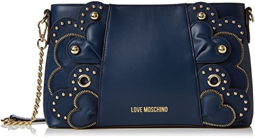 Borsa Vitello Smooth Blu, Womens Shoulder Bag, Blue, 6x16x28 cm (B x H T) Love Moschino