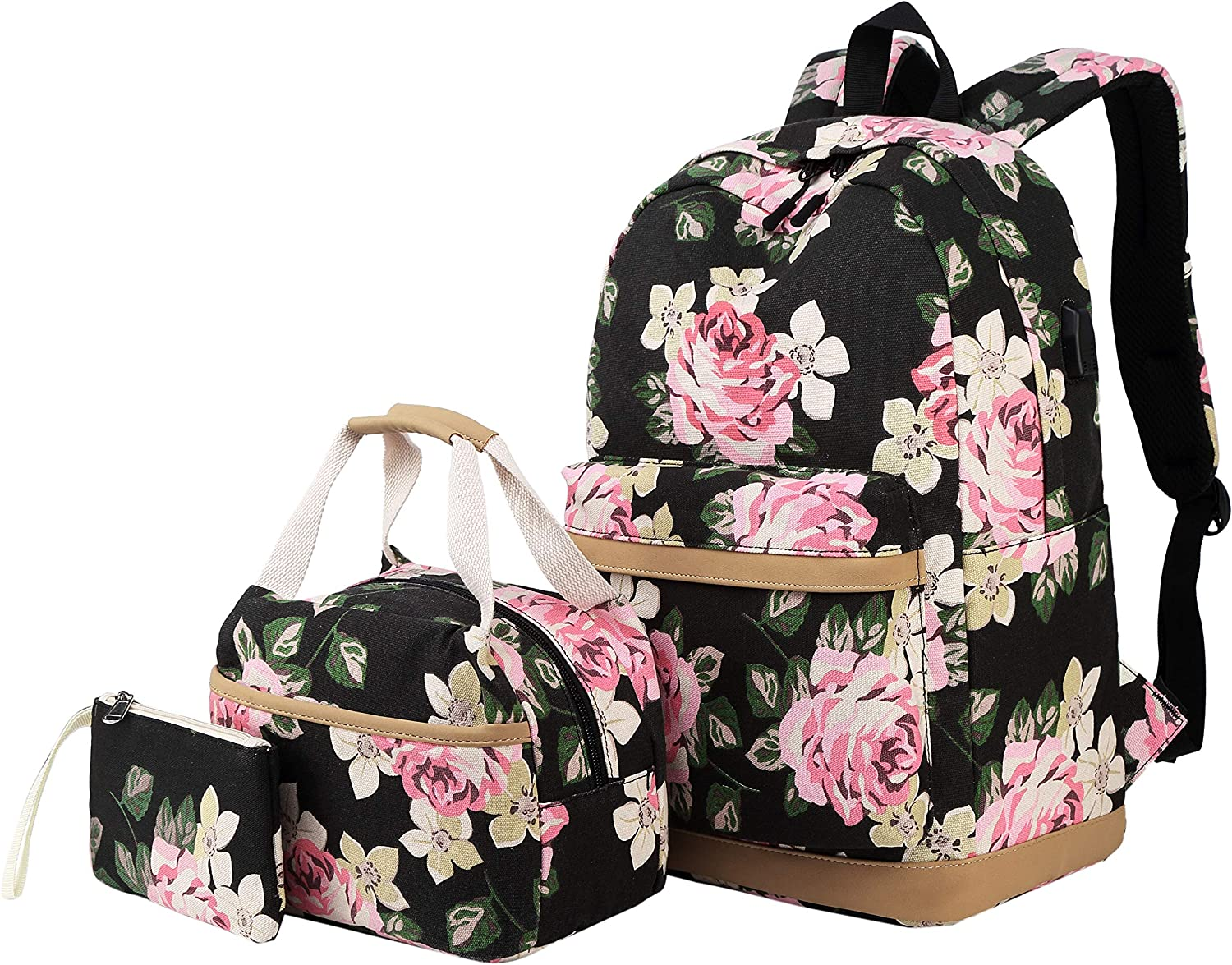 School Backpack for Girls Teens Womens College Bookbags Laptop Lunch Pencil Bag