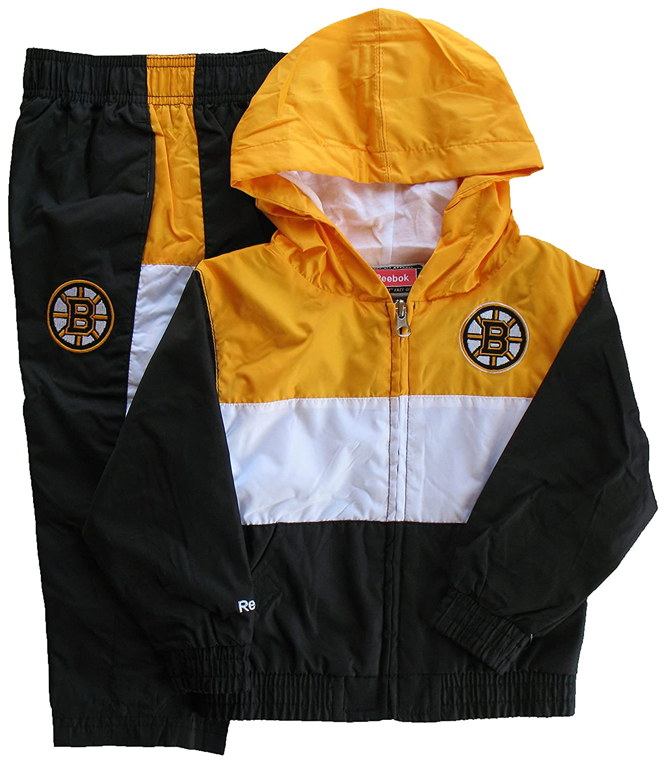 Boston Bruins Toddler 2-Piece Team Hooded Windsuit (3T) Reebok